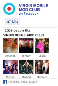 Virgin Mobile Mod Club on Facebook